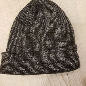 Black with silver glitter look knit cap